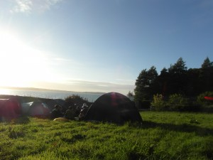 Vue du camping du festival Visions