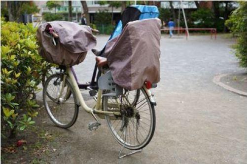 雨の日 自転車 子供 レインコート