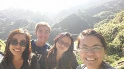 Overlooking the rice terraces!