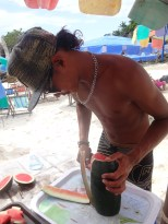Preparing the Watermelon.