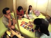 Indoor card games