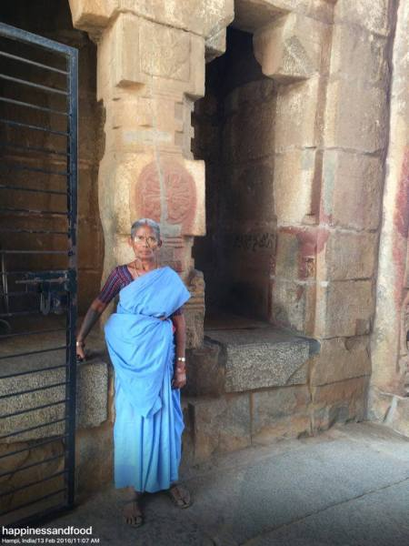 A ticket checker at Vitalla Temple, Hampi