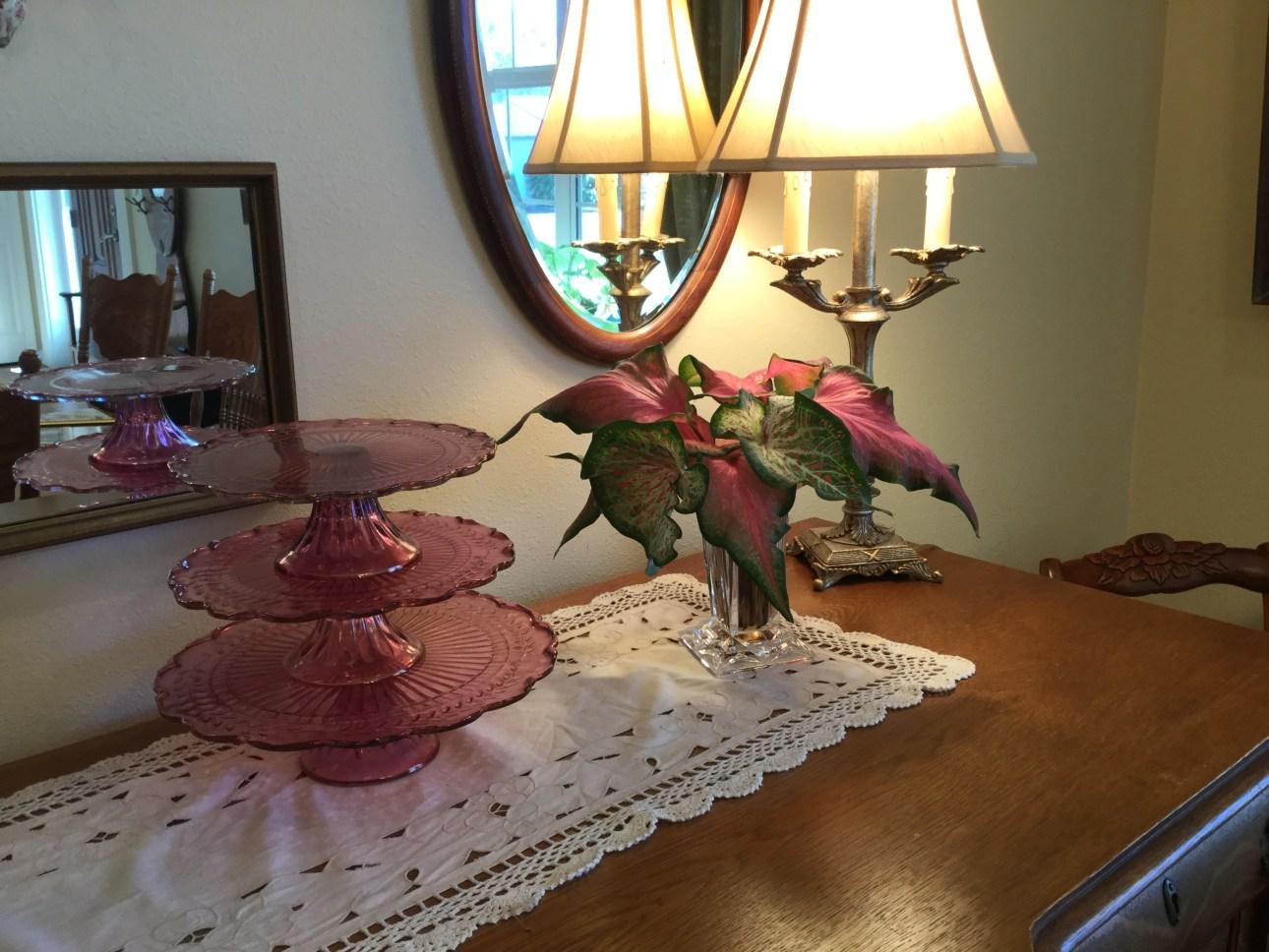 Floral Arrangements of Lance Leaf Caladiums
