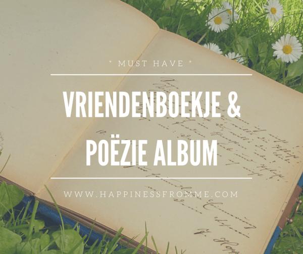 Vriendenboekjes en een poëzie album…