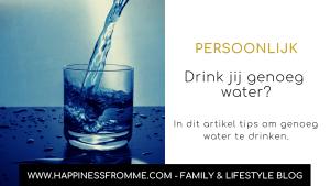 genoeg water te drinken