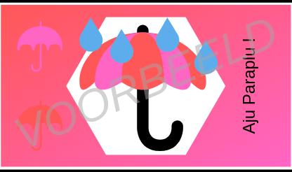 Aju Paraplu Roze