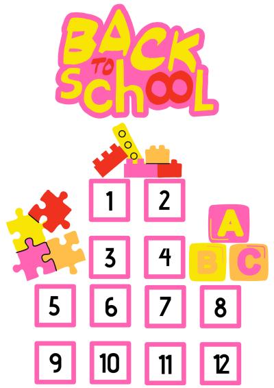 Back to school aftelkalender