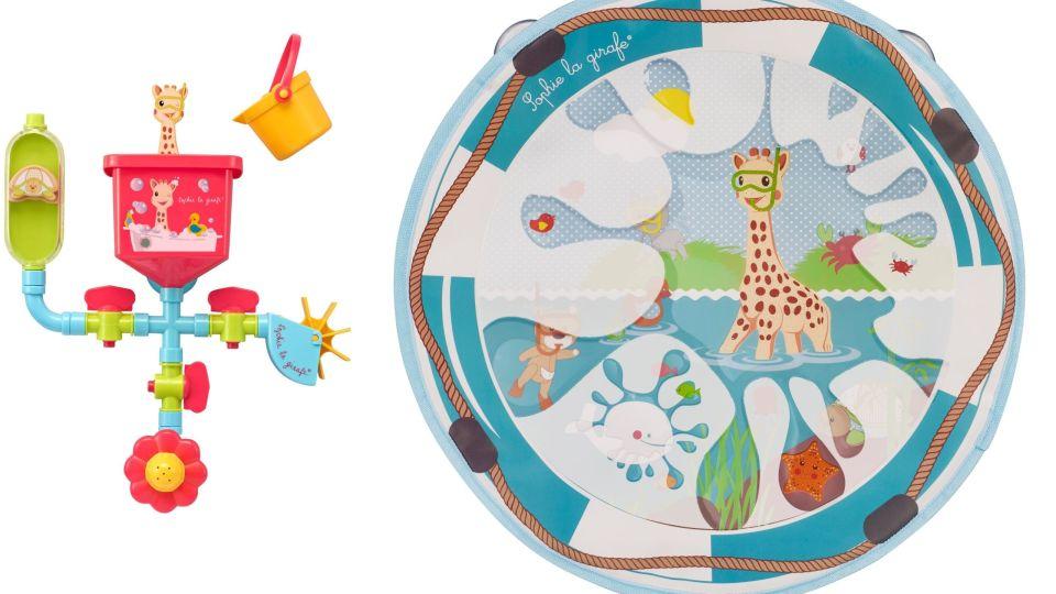 Sophie de Giraf badspeelgoed - Pipes en Magic Board