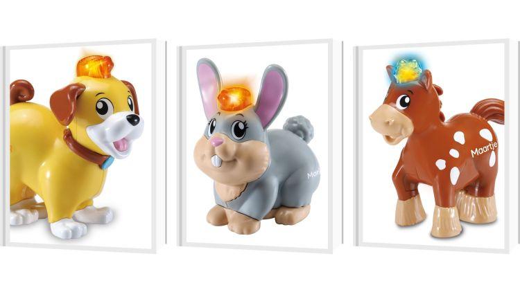 6 nieuwe Zoef Zoef dieren! - hond, konijn, paard