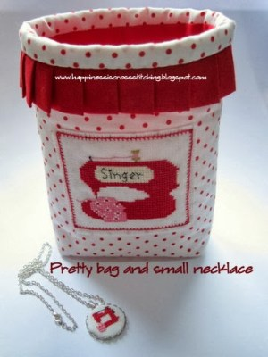 Little red sewing machine cross stitch