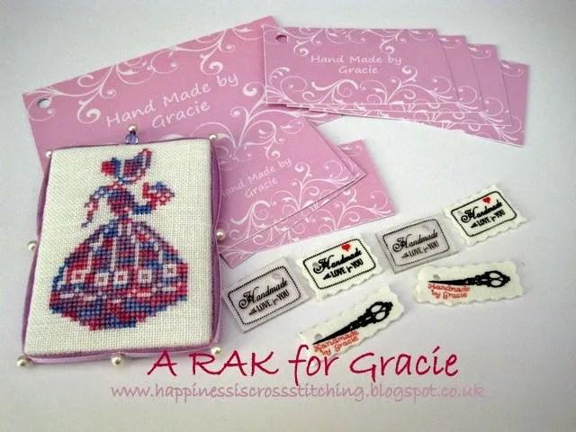 Cross stitch lady stitched by Lynn B