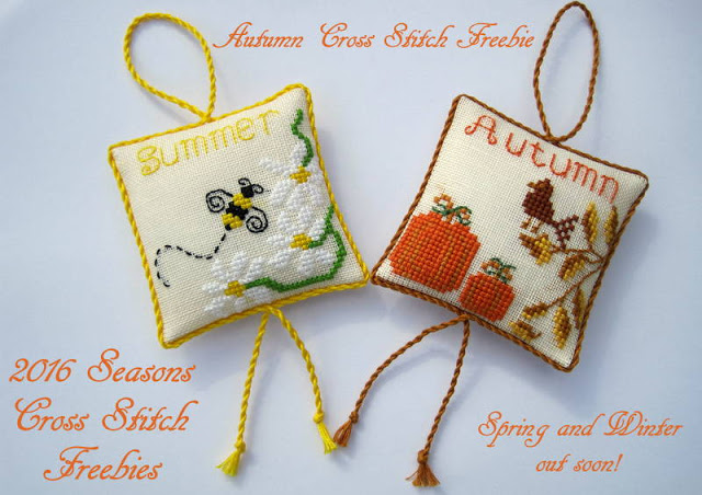 cross stitch patterns for seasons of spring summer autumn and winter