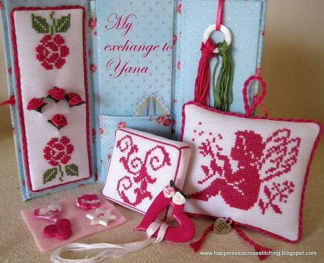 Cross stitched Toblerone gift set.