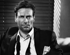 Smoldering Jon Hamm, not the marrying kind of guy