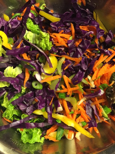 The salad mixture - look how gorgeous, fresh & alive this looks.