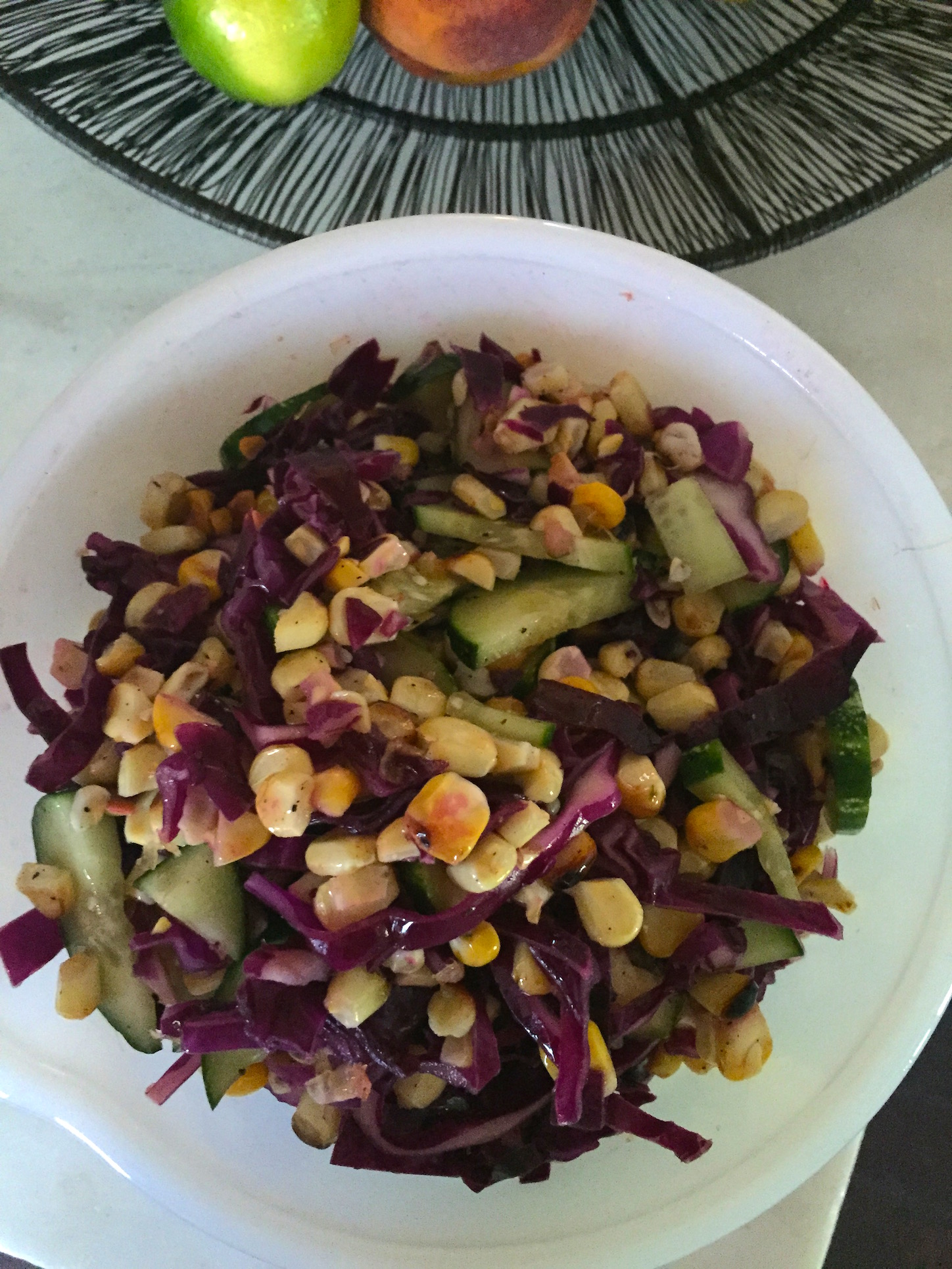 Grilled Corn and Cabbage Salad - an Ageless Diet™ Recipe |