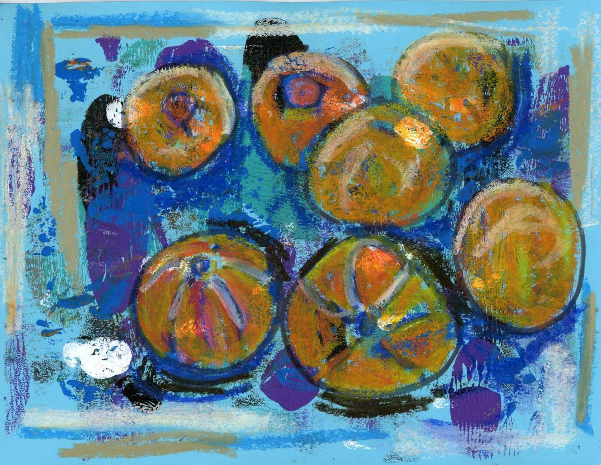 Magnanimous March Metallic Oil #Pastel #Monoprints