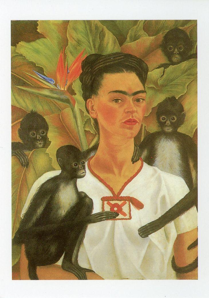Frida Kahlo, Self portrait with Monkeys, 1943