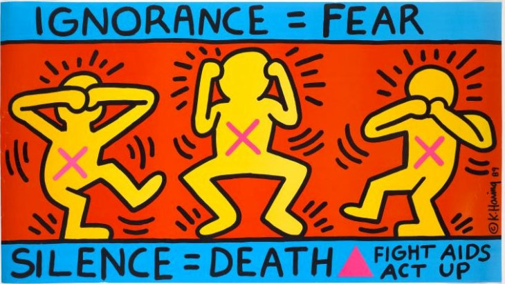 Keith Haring Scilence Equals Death 1989 NYU Library
