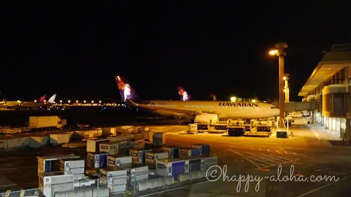 深夜のホノルル空港