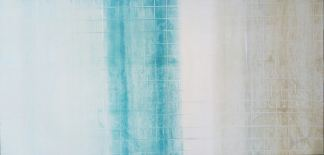 Acrylbild 'Light Blue' – 180 x 90 cm