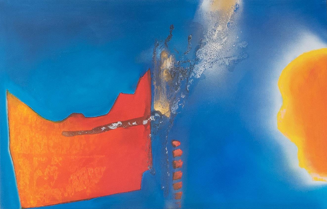 Acrylbild 'Power Blue' – 140 x 90 cm