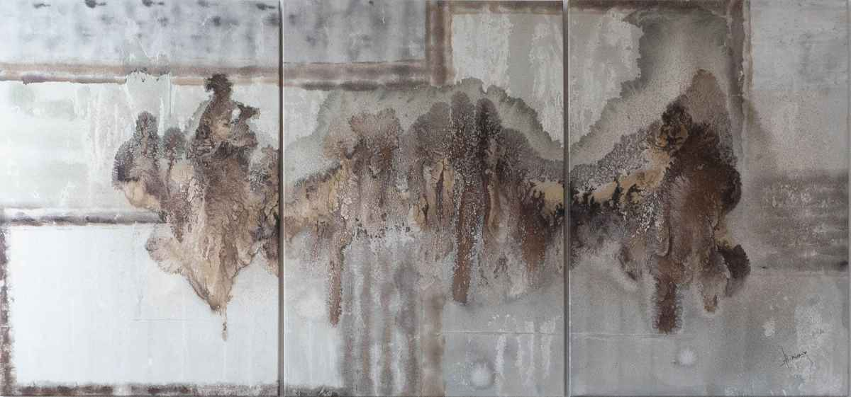 Acrylbild 'The Musicians' – 210 x 100 cm dreiteilig