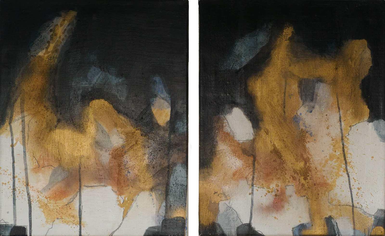 Acrylbild 'Nachtwanderung' - 100 x 63 cm zweiteilig