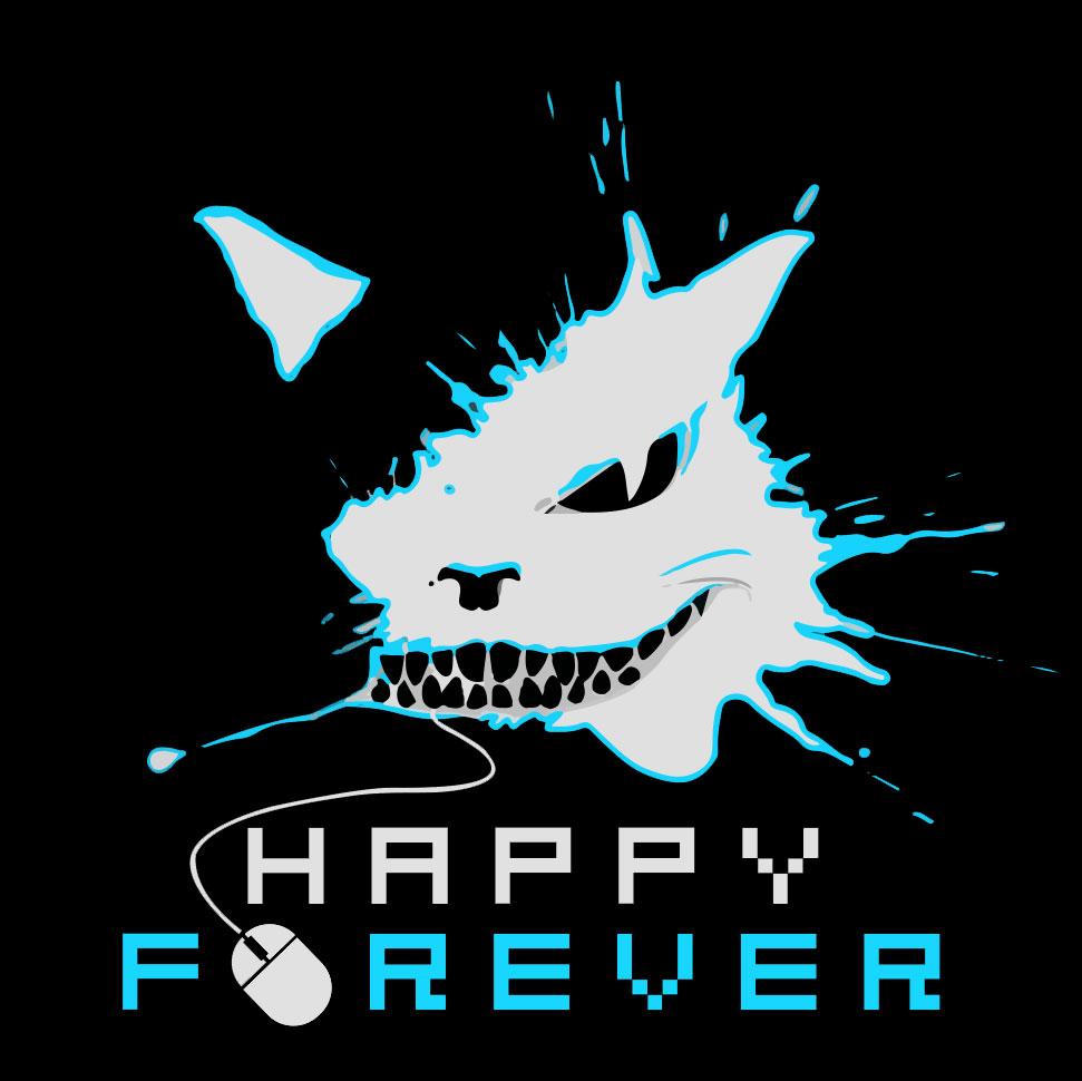 Happy_Forever_logos_black_blue_2