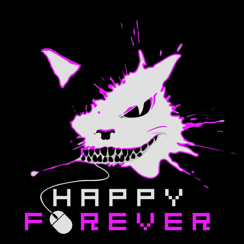 Happy_Forever_logos_black_purple_2