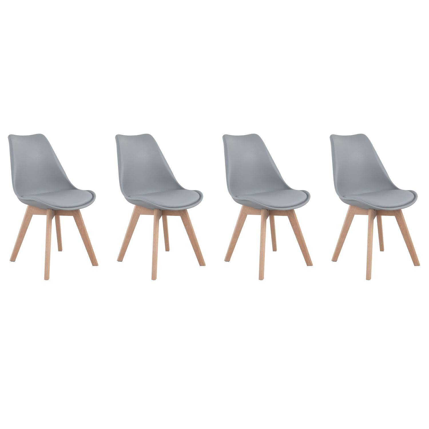 Clair Gris Lot Chaises F7v6yybg Scandinave 4 Grisesde WEbeH29DYI