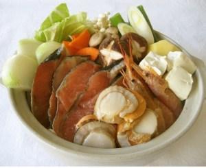 石狩鍋★北海道風秋鮭の味噌鍋