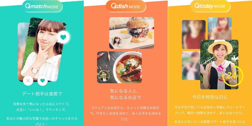 QooN(クーン)の3つのモード