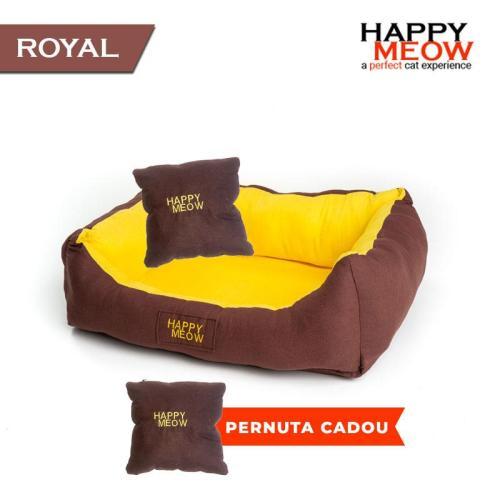 culcus pentru caine pisica happy meow royal xl maro