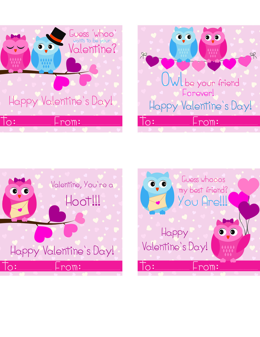 Download Your Preferred Format Of These Printable Valentines Day Cards: