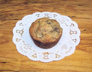 Whole wheat banana muffin