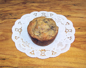 Whole wheat banana muffin