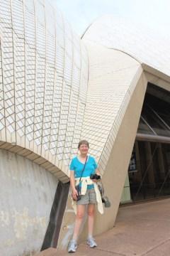 Lynda outside the opera house