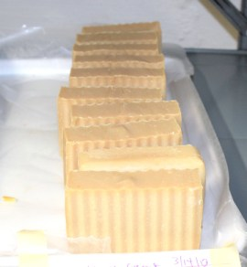 our new coconut milk soap curing