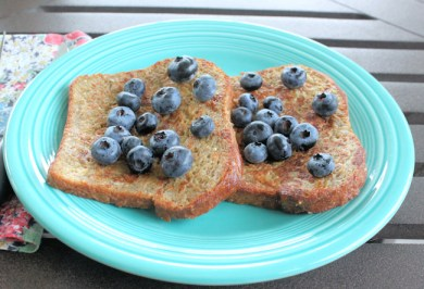 blueberries on French toast