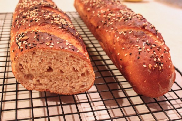 Whole Grain seeded baguette