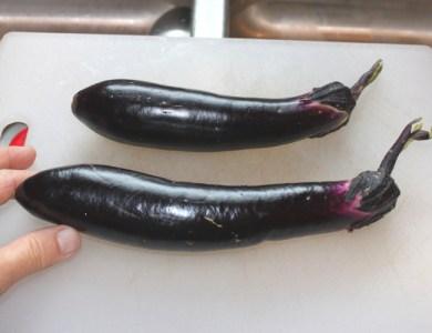 Millionaire eggplants (2012 harvest)