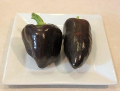 Purple Beauty peppers