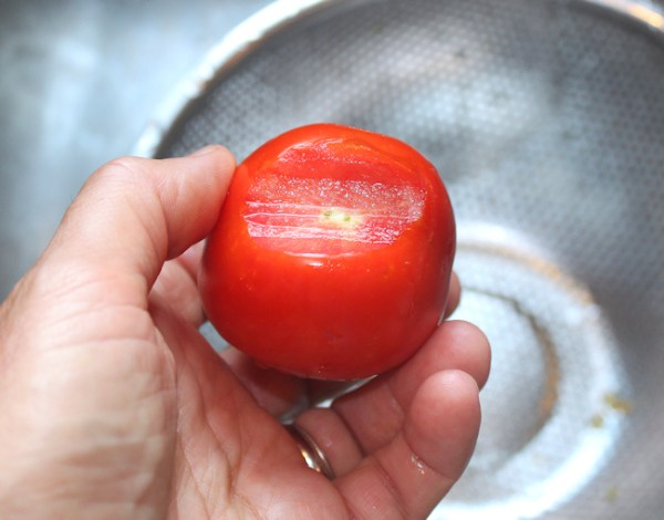 paste tomato with stem end removed