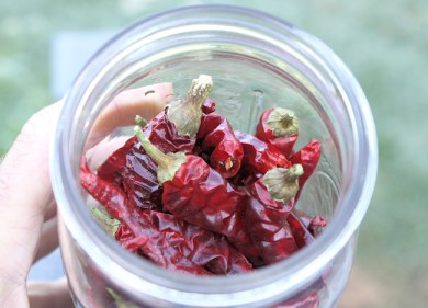dried whole cayenne peppers