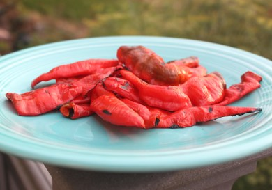 grilled Jimmy Nardello peppers