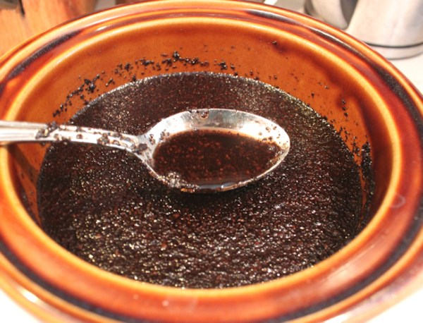 coffee infusing in oil
