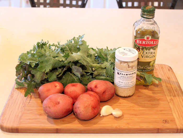 ingredients for Kale and Potato Hash
