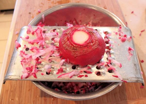 grating turnips for kraut