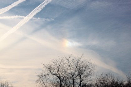 sky photo with sun dog